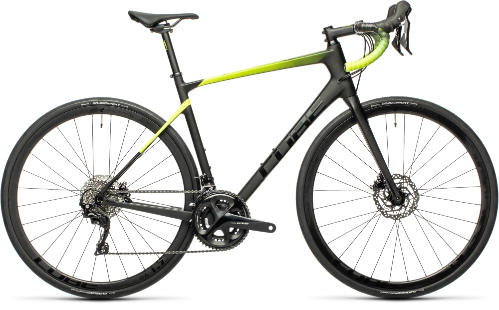 Cube Attain GTC Race carbon'n'flashyellow Größe: 53 cm